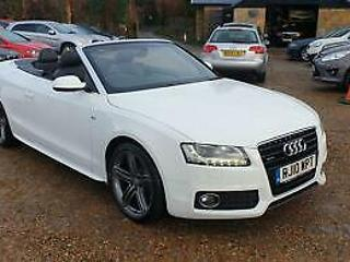 2010 Audi A5 3.0TDI Tronic Quattro S Line Convertible FULLY LOADED!