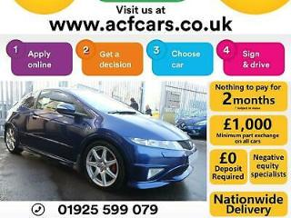 2010 BLUE HONDA CIVIC 2.0 I VTEC TYPE R GT PETROL HATCH CAR FINANCE FR £31 PW