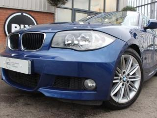 BMW 1 Series 2.0 118I M SPORT 2d HALF LEATHER UPHOLSTERY CRUISE CONTROL PARKING SENSORS Convertible 2010, 70000 miles, £6350