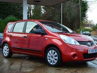 2010 Nissan Note 1.6 16v Visia 5dr Petrol red Automatic