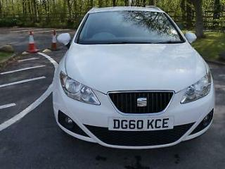 2010 Seat Ibiza 1.6TDI SE CR Ecomotive Diesel Estate White Manual