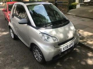 2010 Smart Fortwo MHD Passion 1.0 Automatic Petrol Silver 2dr Coupe Convertible