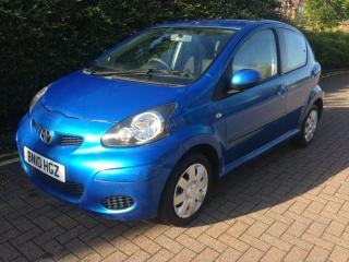 2010 Toyota Aygo 1.0 VVTi 5 door, 65mpg, low ins, £20 tax, MOT Oct 2020
