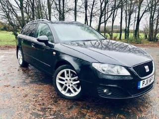 2011/11 Seat Exeo 2.0TDI DPF 143BHP SE Tech Estate In Black