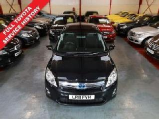 2011 11 TOYOTA AURIS 1.8 T SPIRIT HYBRID 5D AUTO BLACK FINANCE AVAILABLE