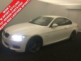 2011 61 BMW 3 SERIES 2.0 320D 184 BHP M SPORT 2DR COUPE STEP AUTO. RED LEATHER