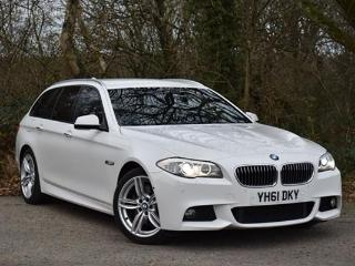 BMW 5 Series 525d [218] M Sport 5dr Step Auto + SAT NAV / LEATHER / 360 CAMERA + Estate 2011, 70000 miles, £14475