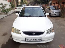 White 2011 Hyundai Accent Executive CNG 52000 kms driven in Punjabi Baug