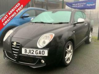 2012 12 ALFA ROMEO MITO 1.4 TB MULTIAIR DISTINCTIVE 3 DOOR BLACK PETROL FULL MOT