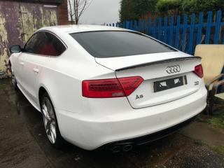 2012 12 REG AUDI A5 S LINE 5dr WHITE 2.0 DIESEL MANUAL DAMAGED SALVAGE