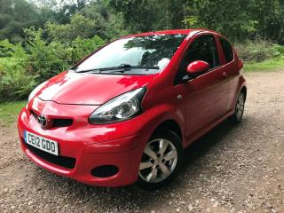 2012 12 TOYOTA AYGO GO VVT i 3 DOOR HATCHBACK 69,000 MILES FSH 1 OWNER FROM NEW
