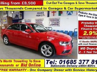 2012 62 AUDI A4 TECHNIK 2.0TDI 177 SE 4 DOOR SALOON GUIDE PRICE