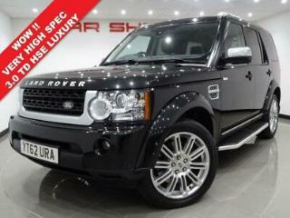 2012 62 LAND ROVER DISCOVERY 4 3.0 SDV6 255 BHP HSE LUXURY AUTO.VERY HIGH SPEC