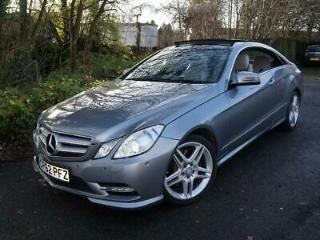 2012 62 MERCEDES E350 CDI AMG SPORT COUPE V6 DIESEL 265 BHP AUTOMATIC SILVER
