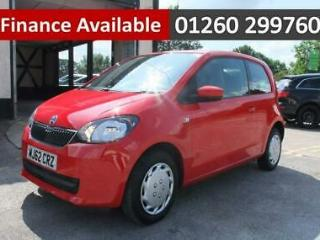 2012 62 SKODA CITIGO 1.0 SE 12V 3DR AUTOMATIC RED