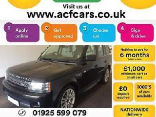 2012 BLACK RANGE ROVER SPORT 3.0 SDV6 HSE AUTO DIESEL CAR FINANCE FR £67 PW