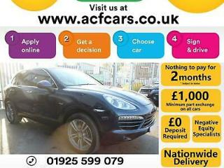 2012 BLUE PORSCHE CAYENNE 3.0 D V6 TIPTRONIC 4X4 CAR FINANCE FR £96 PW