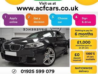 BMW 5 Series 520d M SPORT CAR FINANCE FR £48 PW Auto Saloon 2012, 87000 miles, £10490