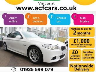 BMW 5 Series 520d M SPORT CAR FINANCE FR £48 PW Saloon 2012, 77000 miles, £10490