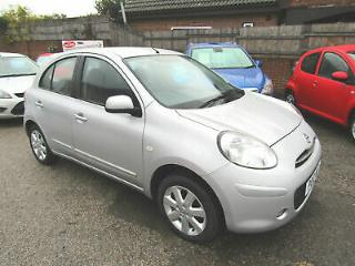 2012 Nissan Micra 1.2 Acenta,Silver,5dr,2 Owners 1 Lady Since 2013 Only 45,000ms