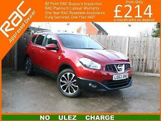 2012 Nissan Qashqai 1.6 n tec +2 2WD 5dr 6 Speed 7 Seater Panoramic Sunroof Sat