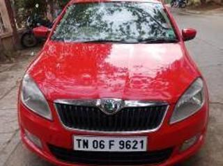 Red 2012 Skoda Rapid 1.5 TDI CR Ambition AT with Alloy Wheels 92,000 kms driven in Vadapalani