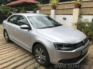 Silver 2012 Volkswagen Jetta Highline TDI AT 38000 kms driven in Jayamahal Extn