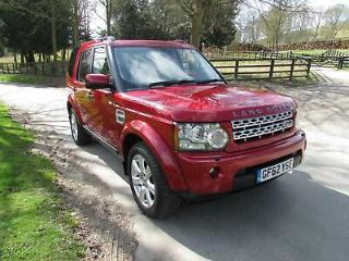 2013/62 Land Rover Discovery 4 3.0SD V6 255bhp auto HSE Firenze Red 1 Owner