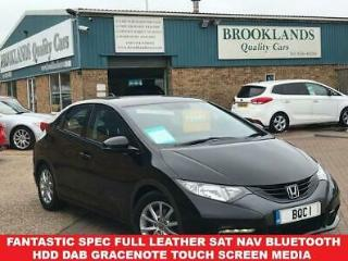 2013 13 HONDA CIVIC 1.8 I VTEC EX 5 DOOR FINISHED IN BLACK WITH HEATED LEATHER 1