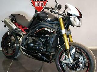2013 63 TRIUMPH SPEED TRIPLE R 1050 OHLINS PROJECT TRADE SALE CAT C BLACK CARBON