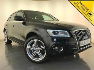 2013 AUDI Q5 S LINE + TDI DIESEL QUATTRO HEATED LEATHER SEATS SAT NAV 1 OWNER
