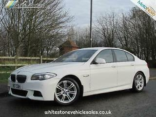 2013 BMW 5 SERIES 520d Step Auto Opt Start Stop 520 M Sport White Auto Diesel