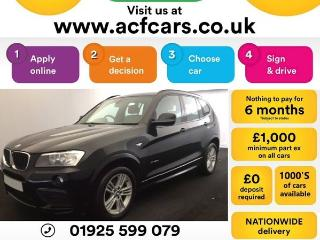 BMW X3 XDRIVE20d M SPORT CAR FINANCE FROM £58 PW Auto Other 2013, 47000 miles, £14990