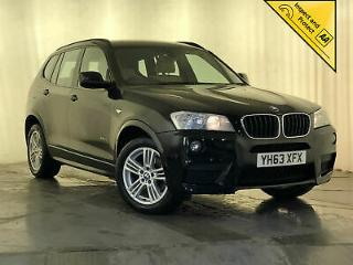 2013 BMW X3 SDRIVE18D M SPORT CREAM LEATHER PARKING SENSORS CRUISE CONTROL
