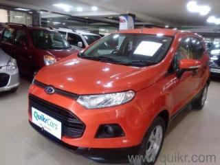 Orange 2013 Ford Ecosport 1.5 DV5 MT Ambiente 53720 kms driven in Palace Road
