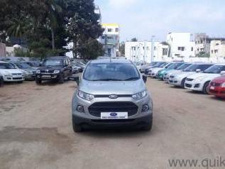 Silver 2013 Ford EcoSport Trend 1.5 TDCi 1,19,000 kms driven in R.K.Layout