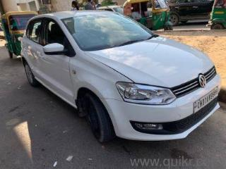 White 2013 Volkswagen Polo 89000 kms driven in Mg Road