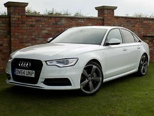 2014/64 Audi A6 Saloon 3.0BiTDI [313ps]Tip quattro Black Edition WHITE