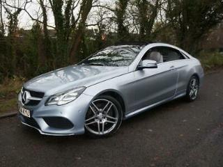 2014 14 MERCEDES E220 CDI AMG SPORT COUPE BLUEEFFICIENCY AUTOMATIC DIESEL SILVER