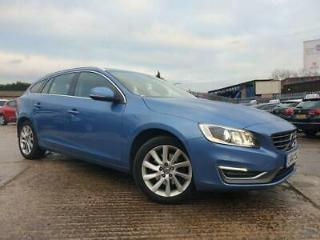 2014 14 VOLVO V60 1.6 D2 SE LUX 5D 113 BHP DIESEL BLUE 2KEYS+LEATHER+17ALLOYS+CD
