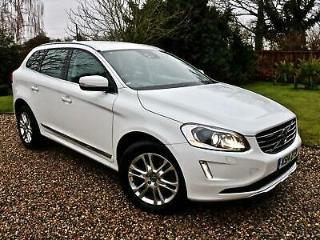 2014 14 Volvo XC60 2.4TD D5 215bhp AWD Nav Geartronic SE Lux ICE WHITE