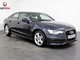 2014 60 AUDI A6 2.0 TDI ULTRA S LINE 4D 188 BHP SAT NAV HEATED LEATHER SEATS BLU