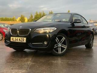 2014 64 BMW 2 SERIES 2.0 218D SPORT 2D 141 BHP DIESEL BLACK+LEATHER+MEDIA+ELECS