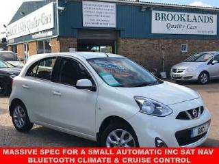 2014 64 NISSAN MICRA 1.2 ACENTA 5 DOOR FINISHED IN PEARL WHITE AUTO 79 BHP