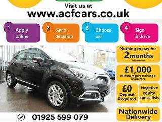 2014 BLACK RENAULT CAPTUR 1.5 DCI DYNAMIQUE NAV DIESEL CAR FINANCE FR £37 PW