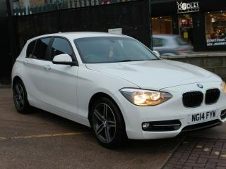 2014 BMW 1 Series 1.6 116i Sport Sports Hatch s/s 5dr in WHITE