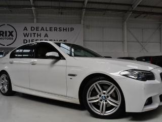 BMW 5 Series 3.0 530D M SPORT 4d AUTO HEATED OYSTER DAKOTA LEATHER PROFESSIONAL NAVIGATION BLUETOOTH CRUISE Saloon 2014, 90000 miles, £14650
