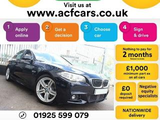 BMW 5 Series 520d M SPORT CAR FINANCE FR £54 PW Auto Saloon 2014, 85000 miles, £11990