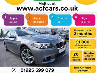 BMW 5 Series 520d M SPORT CAR FINANCE FR £60 PW Auto Saloon 2014, 39000 miles, £13490