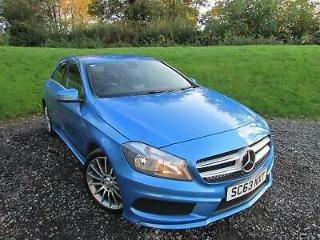 2014 Mercedes Benz A Class 1.5 A180 CDI AMG Sport 5dr Diesel blue Manual